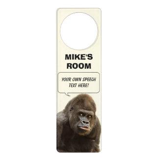Funny Gorilla custom door hanger
