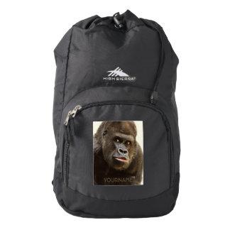 Funny Gorilla custom monogram backpacks Backpack