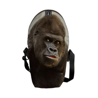 Funny Gorilla custom monogram mini messenger bag