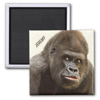 Funny Gorilla custom name magnet