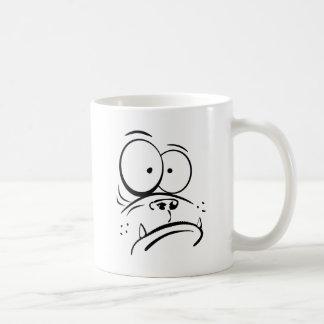 Funny gorilla looking confused cartoon image coffee mugs