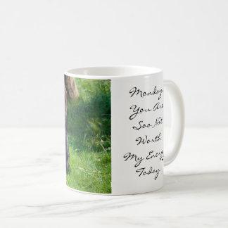 Funny Gorilla Monday Worth My Energy Today Coffee Mug