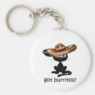 Funny got burritos basic round button key ring