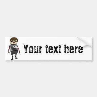 Funny Goth Sloth Art Bumper Sticker