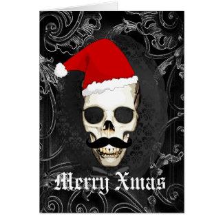 Funny Gothic Santa Christmas Card