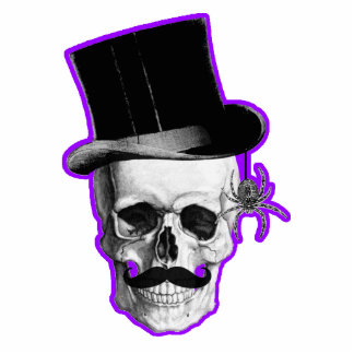 Funny Gothic skull groom Cut Outs