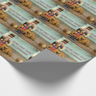 Funny Grab Your Nuts Nutcracker Christmas Wrapping Paper