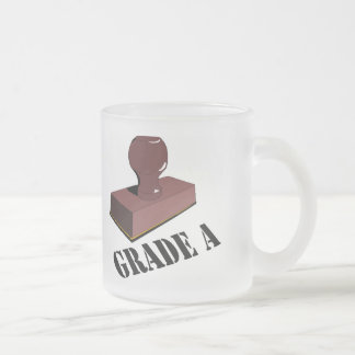 Funny Grade A T-shirts Gifts Frosted Glass Coffee Mug