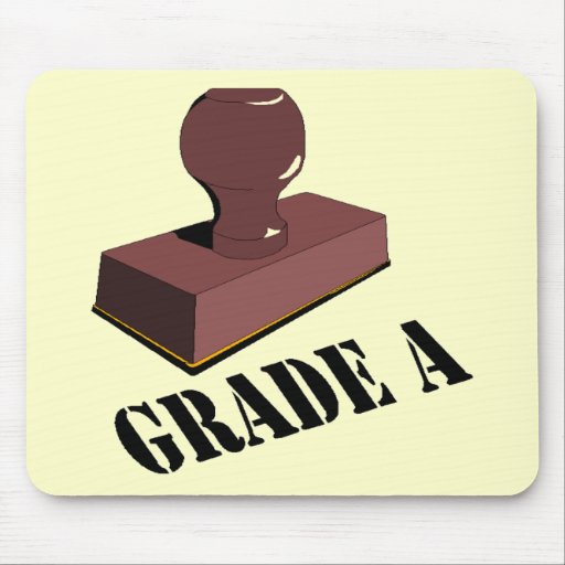 Funny Grade A T-shirts Gifts Mouse Mat