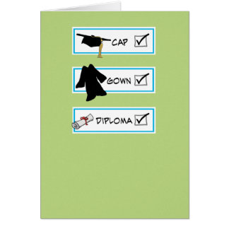 Funny graduation card: Big Brain Greeting Card