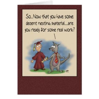 Funny Graduation Cards: Nesting Material Card
