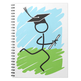 Funny Graduation Runner - Cross Country, Track Spiral Note Book