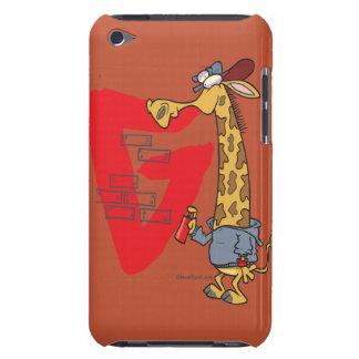 funny graffiti giraffe cartoon iPod touch Case-Mate case