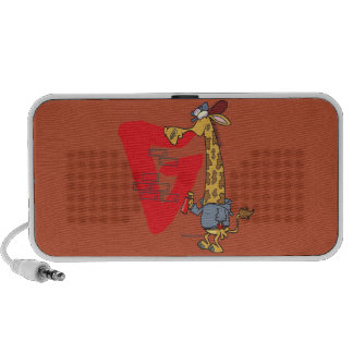 funny graffiti giraffe cartoon mp3 speaker