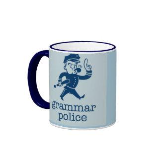 funny grammar police design coffee mug