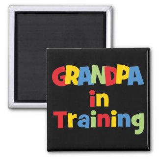Funny Grandpa Gift Square Magnet