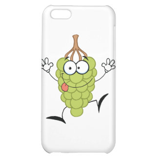 Funny Grapes Cartoon Character iPhone 5C Cases