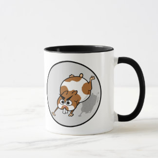 FUNNY GRAPHIC HAMSTER IN BALL RINGER MUG