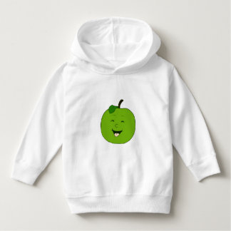 Funny Green Apple - Kids White Hoodie