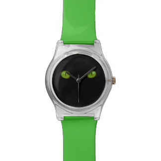 Funny Green Cat Eyes Wristwatch