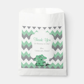 Funny Green Chevron Silly Cute Baby Elephant Favour Bag
