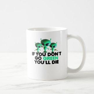 Funny green coffee mug