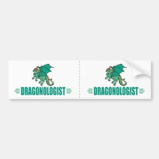 Funny Green Dragon Dragonologist Bumper Sticker