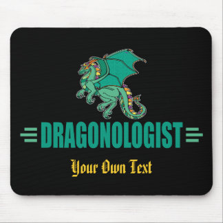 Funny Green Dragon Dragonologist Mouse Pad