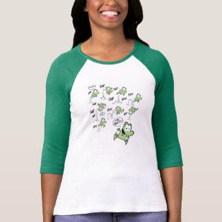 Funny Green Frog Cartoon Shirt