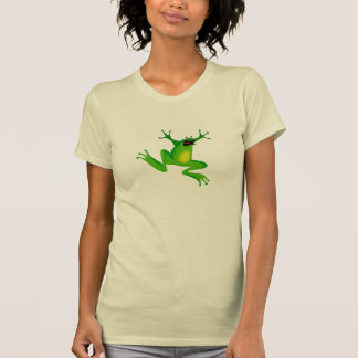 Funny Green Frog Womens T-Shirt