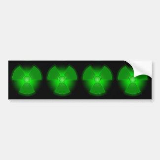 Funny green glowing radioactivity symbol bumper sticker