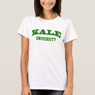 Funny Green Kale University Parody College Vegan T-Shirt
