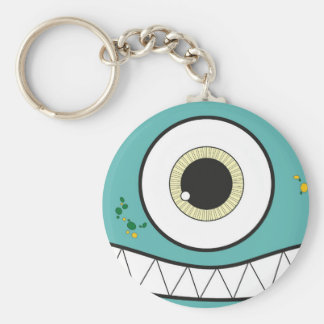 Funny Green Monster Keychain