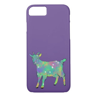 Funny Green Psychedelic Goat Animal Art Design iPhone 8/7 Case