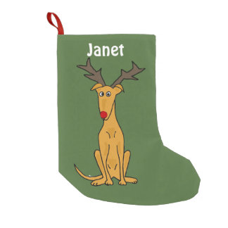 Funny Greyhound Dog Christmas Stocking