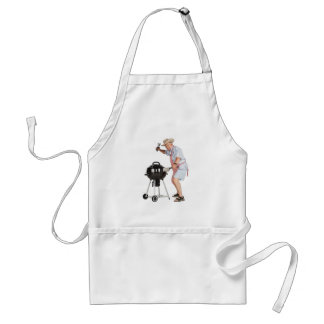 Funny Grilling Grandpa BBQ Cookout Barbecue Grill Standard Apron