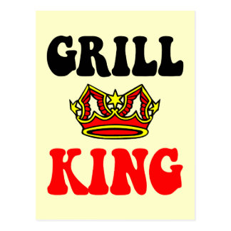 Funny grilling postcard