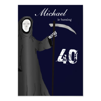 Funny Grim Reaper Birthday Party Invitation