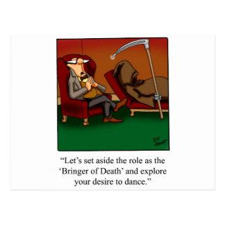 Funny Grim Reaper Dance Cartoon Postcard