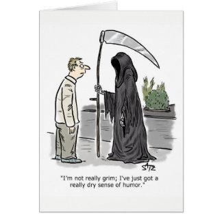 Funny grim reaper greeting card
