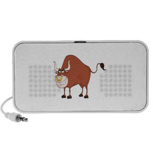 funny grinning bull cartoon character mp3 speaker