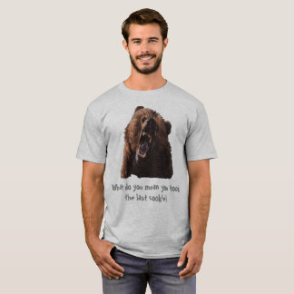 Funny Grizzly Bear Design T- shirt