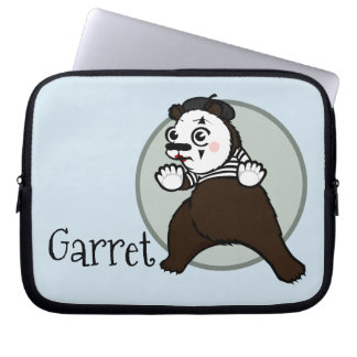 FUNNY GRIZZLY BEAR MIME LAPTOP SLEEVE