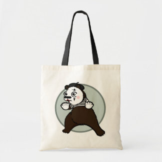 FUNNY GRIZZLY BEAR MIME TOTE BAG