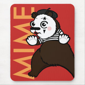 FUNNY GRIZZLY BEAR MIME VERTICAL MOUSE PAD