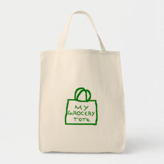Funny grocery tote canvas bags