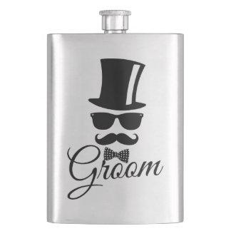 Funny groom hip flask