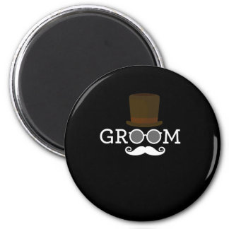 Funny Groom Mustache & Hat  for Bachelor's Party Magnet