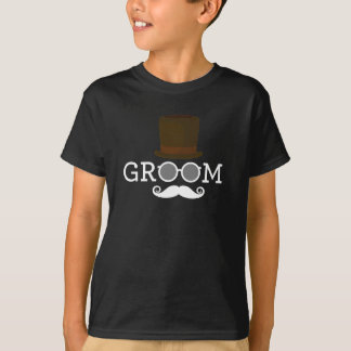 Funny Groom Mustache & Hat  for Bachelor's Party T-Shirt