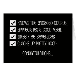 Funny Groomsmen Card -- Qualified Groomsman
